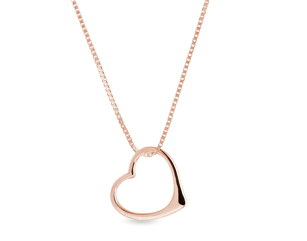 heart shaped pendant rose gold