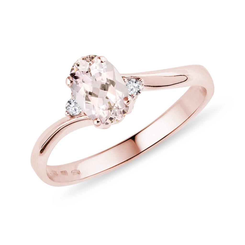 Morganite in rose gold jewellery